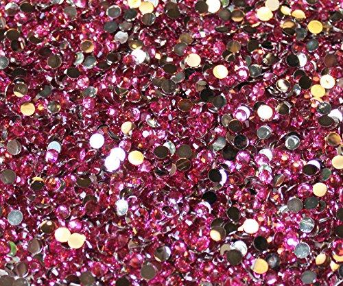 (Blinggasm 1000 Crystal Flat Back Resin Rhinestones Gems (5mm-ss20, Light Rose))