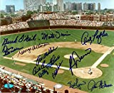 #6: Wrigley Field photo autographed by Chicago Cubs Legends size 8x10 - Autographed MLB Photos