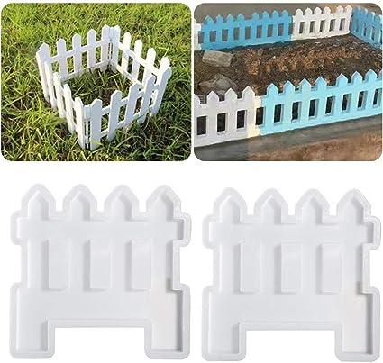 Recinzioni Per Giardino In Cemento.Stampi Per Recinzioni Da Giardino 2 Pezzi In Plastica Per