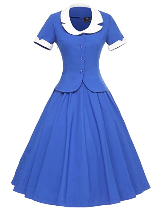 1950s Dresses, 50s Dresses | 1950s Style Dresses GownTown Womens Vintage 1950s Retro Rockabilly Prom Dresses $36.99 AT vintagedancer.com