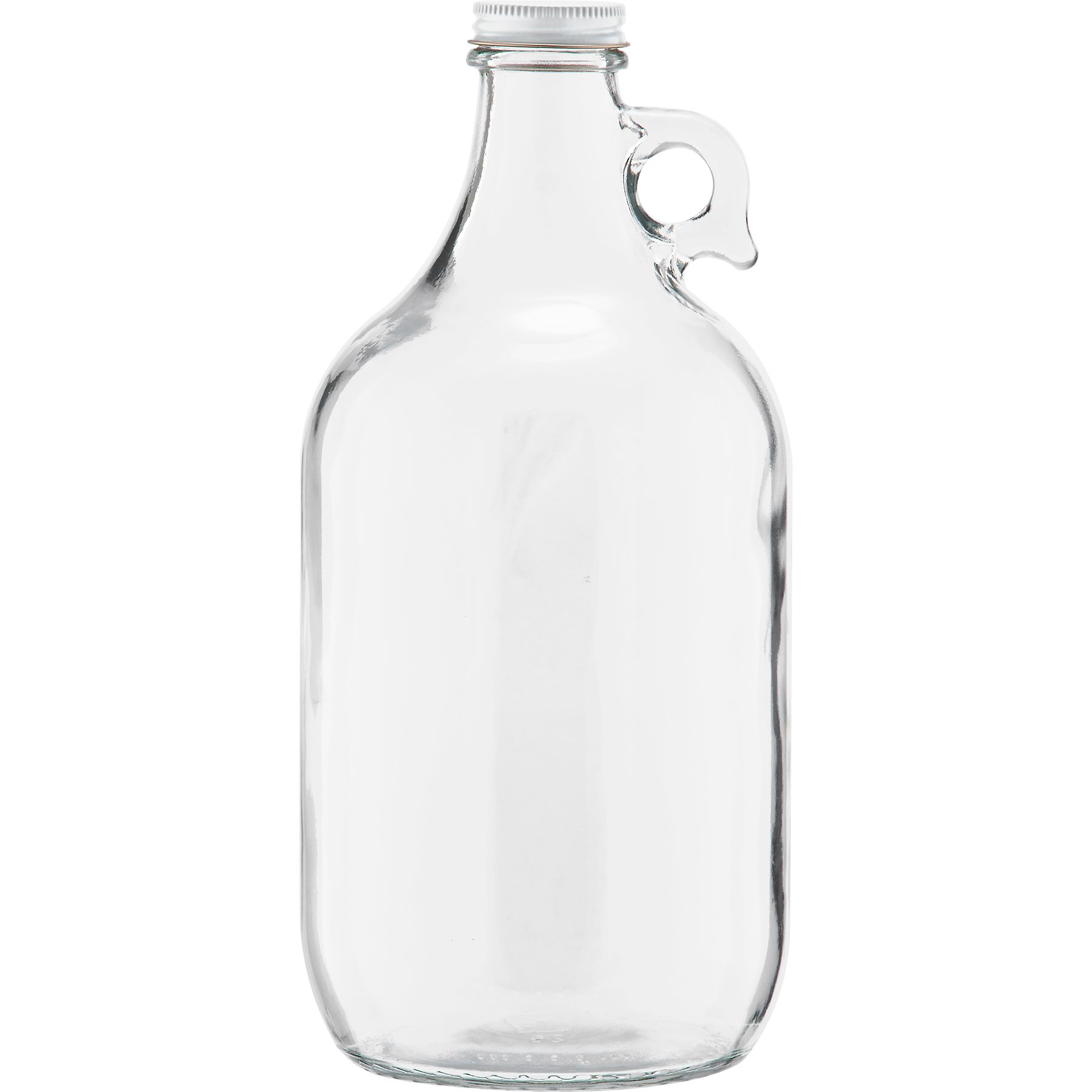 The Cary 30W64GW Glass Beer Growlers, 1/2 gal, 4.9'' ID, Glass, Clear (Pack of 6)