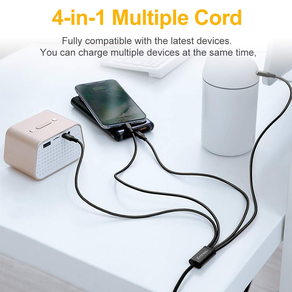 Amazon.com: Cable de carga múltiple, cable de carga, 2 ...