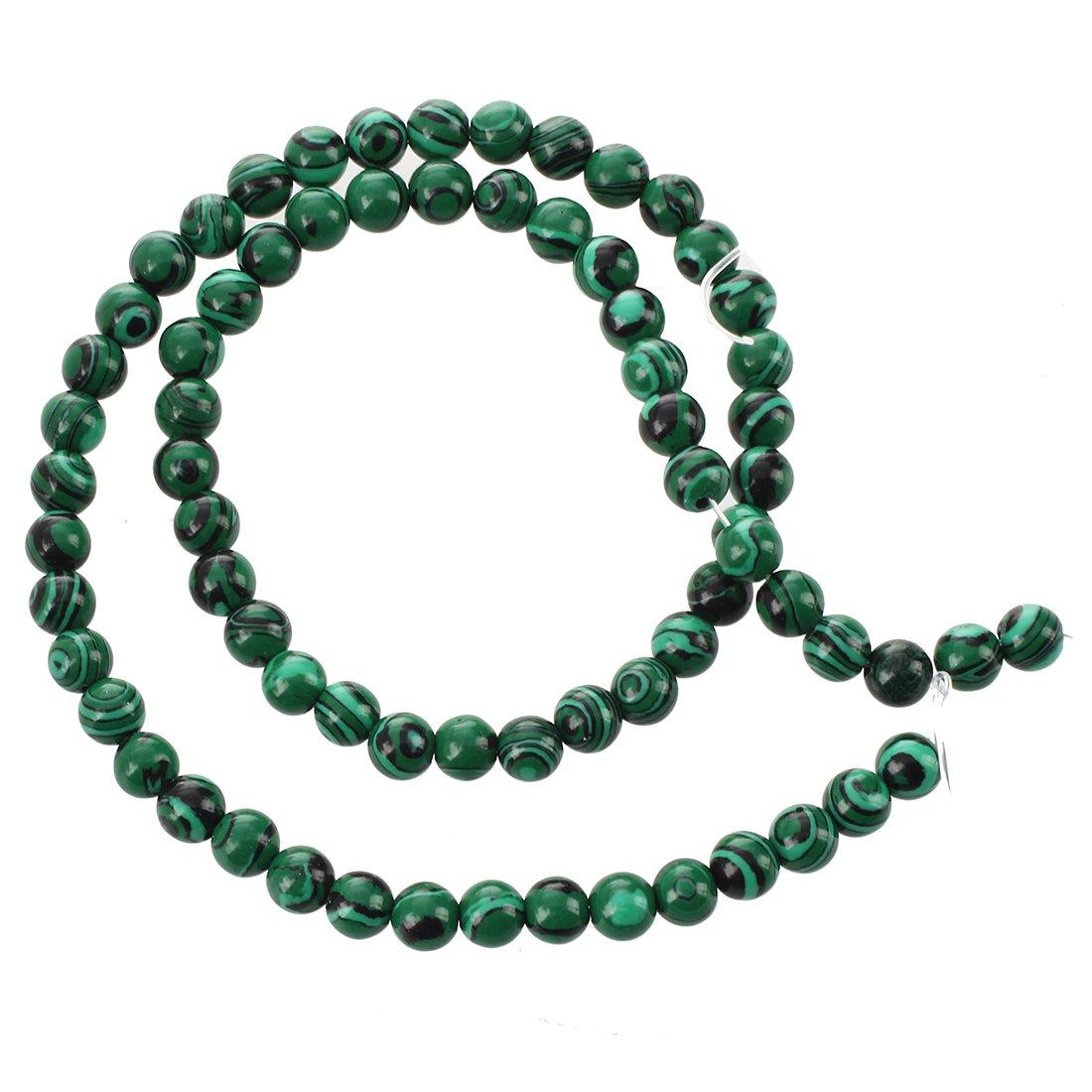 SODIAL(R) Malachite Gemstone Stone Round Loose Beads 6mm Strand HOT 019085