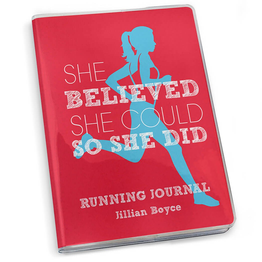 Gone For a Run She Believed She Could Running Journal | Paper Journal Salmon by Gone For a Run