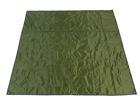 Toldo Manta de Pícnic Alfombra Estera XXL impermeable de Nylon con Bolsa 215 x 215 cm