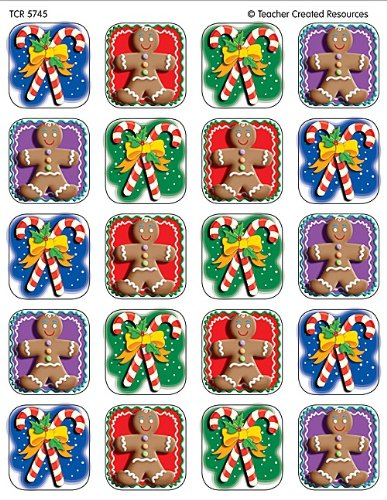 - Teacher Created Resources Candy Canes/Gingerbread Stickers, Multi Color (5745)