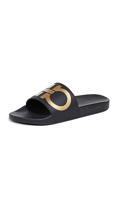 888c862cb72 Amazon.com  Salvatore Ferragamo Men s Groove 2 Slides  Shoes