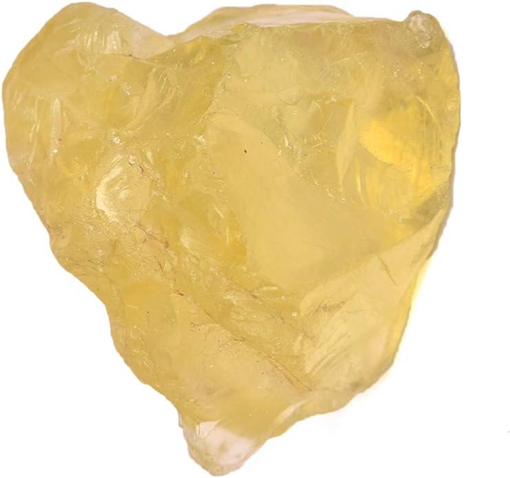 Cristal de gu/érison Topaze naturelle 61,00 Topaze citronn/ée non trait/ée pour la d/écoration de la maison Sp/écimen en pierre