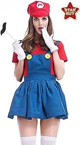 COSOER Disfraz De Cosplay De Halloween De Mario and Luigi Correas ...