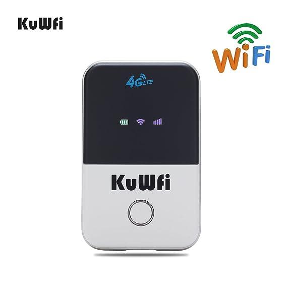 KuWFi Travel Partner inalámbrico Pocket 150Mbps 4G WiFi enrutador 100Mbps USB 4G módem con Tarjeta SIM Mini Mobile Hotspot Portable LTE Router: Amazon.es: ...