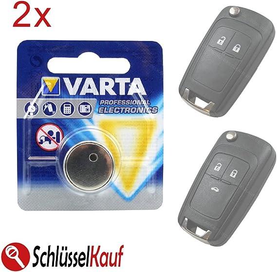 Konikon 2x Autoschlüssel Batterie Knopfzelle Passend Für Opel Astra J Corsa E Insignia Meriva B Vectra