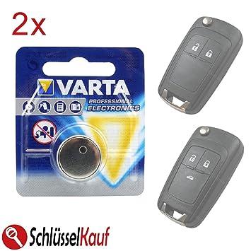 2 x VARTA Llave de Coche batería para Opel Astra J Corsa E ...