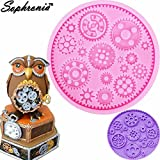 Star-Trade-Inc - 10PCS/SET Steam Punk Cogs & Gear Pocket Clock Silicone Mold Fondant Cake Molds Cupcake Mould Chocolate Kitchen Accessories m799