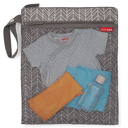 Skip Hop Waterproof Wet Dry Bag, Grab & Go, Grey Feather by Skip Hop (Image #1)