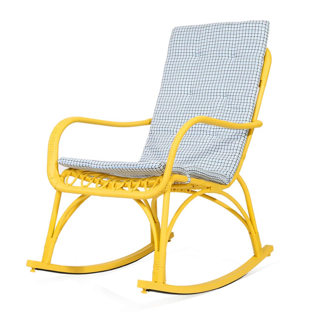 Plus Cushions Klappstühle Schaukelstuhl Erwachsene Indoor Mittagspause Moderne Einfache Lazy Lounge Stuhl Balkon Sessel Wohnzimmer Nap (Farbe   Plus Cushions)