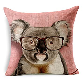 SHIYII The Golden Koala Mianma Cartoon Cotton Pillow Pillow,Koala ...