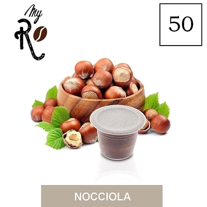 50 Cápsulas de Café compatibles Nespresso - Café aroma de Avellana - MyRistretto - FRHOME