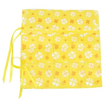 15 Slot Circular Knitting Needle Bag Holder Case W Flower Print