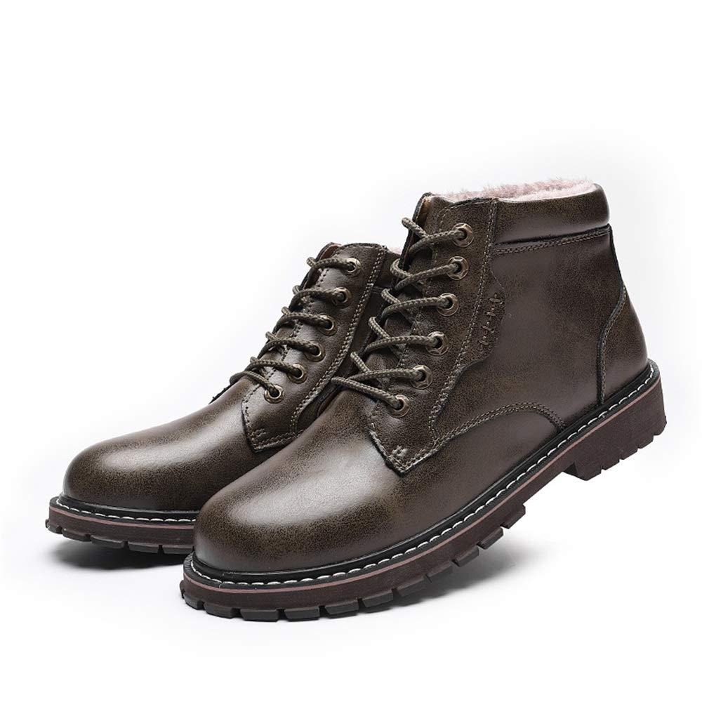YAJIE-Stiefel, Ankle Work Stiefel für Herren, Herren, Herren, Casual Classic Allzweck-Runde Zehe Winter Faux Fleece Inside High Top Stiefel (Farbe   Khaki, Größe   40 EU)  a93efb
