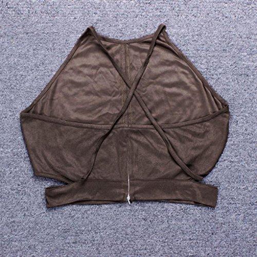 551d87c2a6cd0 baskuwish Fashion Women Boho Tank Tops Bustier Bra Vest Crop Top Shirt  Bralette Blouse Cami