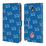 Official NFL Patterns 2017/18 Detroit Lions Leather Book Wallet Case Cover For Samsung Galaxy S4 I9500