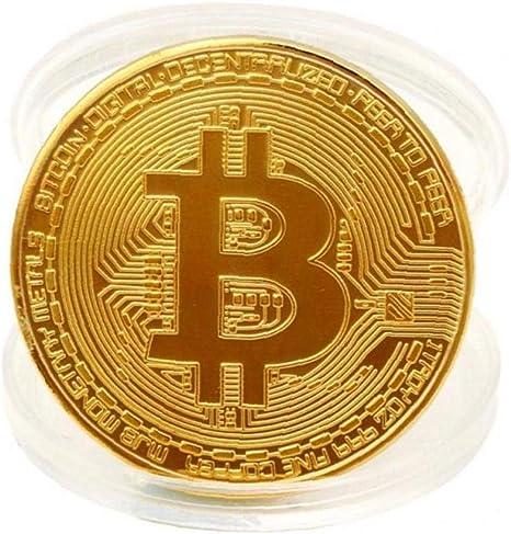 Chapado en Oro de Bitcoin Moneda de colección de Monedas Regalo Colección de Arte de Oro físico Monedas conmemorativas: Amazon.es: Hogar