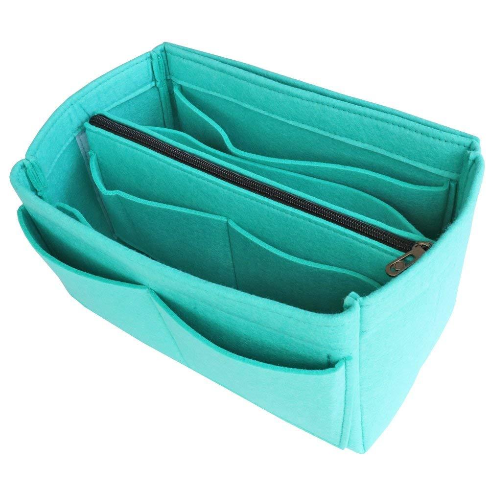 VANCORE Tote Bag Organizer Insert Felt Purse Organization With Detachable Middle Zipper Bag