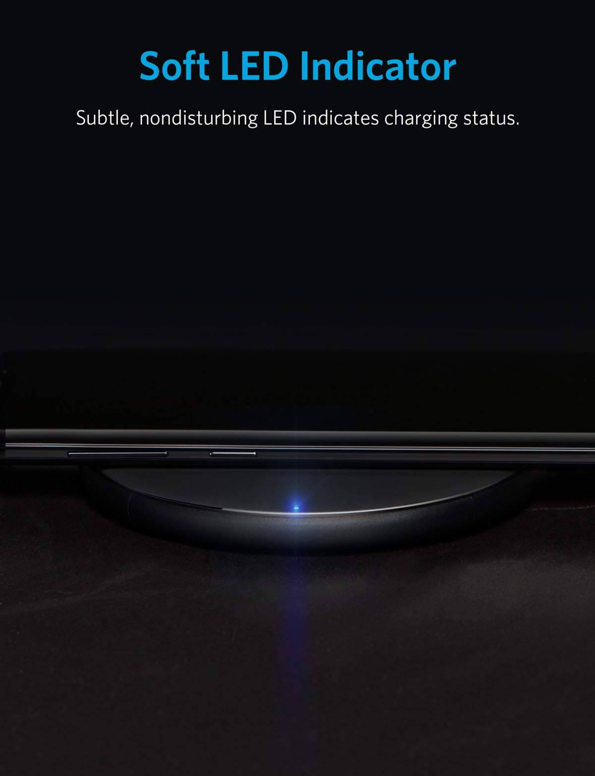 Anker Wireless Charger, Qi-Certified Ultra-Slim Wireless Charger for iPhone X, iPhone 8/8 Plus, Samsung S9/S9+/S8/S8+/S7/Note 8 and More, PowerPort Wireless 5 Pad (AC Adapter Not Included)