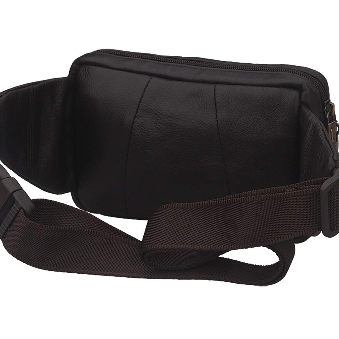 RABILTY Running Belt Waist Fanny Pack Pouch for iPhone 7 8 Plus X Brown Cowhide Travel Neck Pouch Color : Black