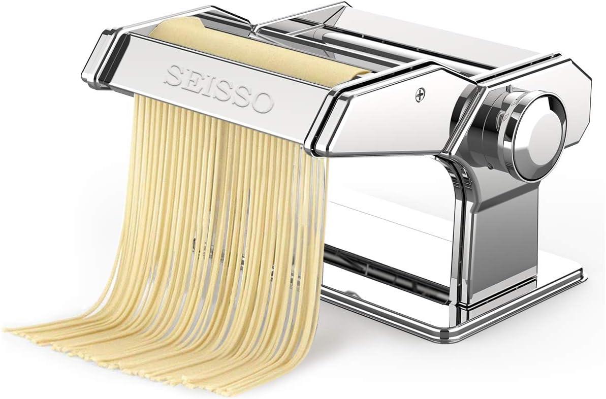 Camisin Household Manual Steel Pasta Maker Noodles Presser Making Machine with 7 Molds Noodle Maker