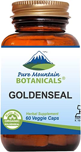Goldenseal Capsules – 60 Kosher Vegan Caps Now with 250mg Organic Goldenseal Root