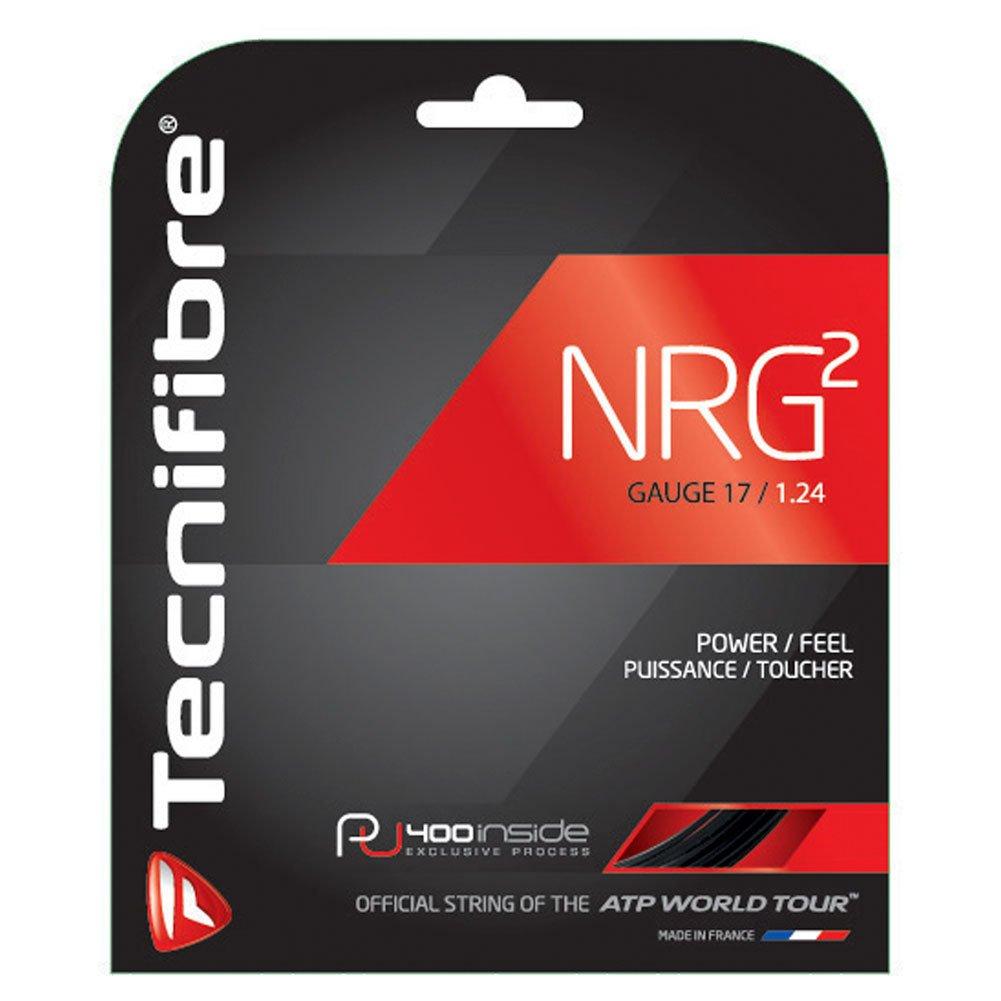 Tecnifibre NRG2 17g 1.24 Black Tennis String 40 foot pack