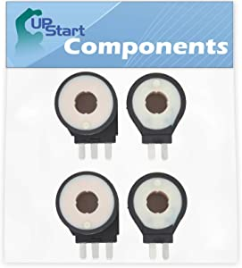 2-Pack 279834 Gas Dryer Coil Kit Replacement for Whirlpool LGR7646EQ3 Dryer - Compatible with 279834 Dryer Gas Valve Ignition Solenoid Coil Kit - UpStart Components Brand