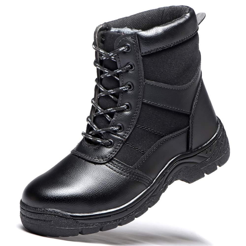 Noir JESSIEKERVIN YY3 Chaussures en Coton Chaudes, Chaussures de sécurité, Chaussures de sécurité, Anti-Smash, Stab, Chaussures de sécurité, Chaussures de sécurité (Couleur   Noir, Taille   41)