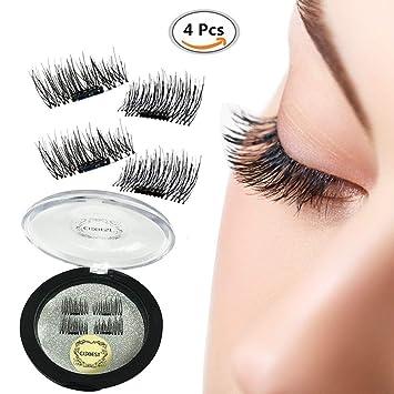 836784b3130 False Magnetic Eyelashes, Magnetic False Eye Lashes Magnet Eyelashes, 1  pair (4 piece