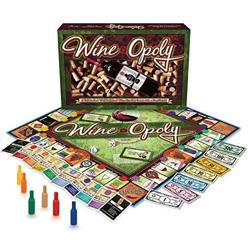 Wine-opoly Board Game - Collect Grapes & Decanters - 2-6 Players - Ages 8+