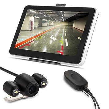 """CARCHET® Navegador de Coche GPS 7"""" Bluetooth AV-IN + Cámara Reversa Inalámbrico"""