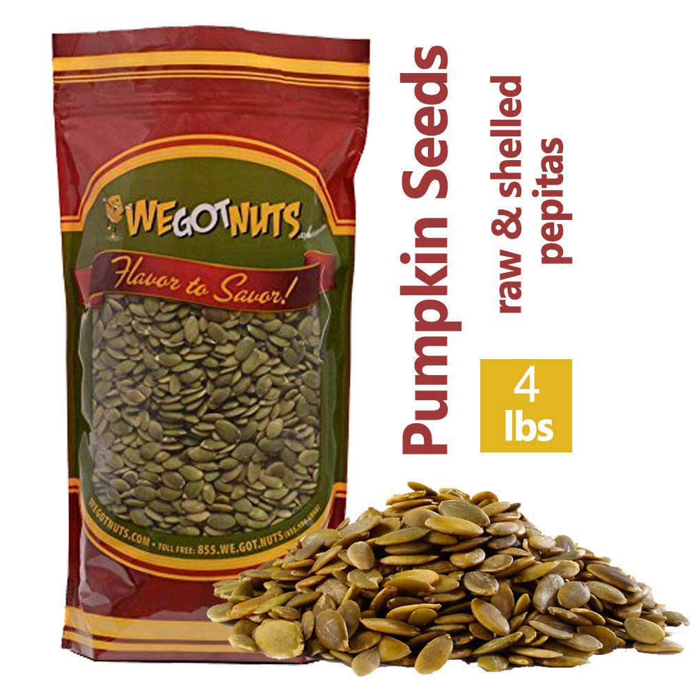Raw Pumpkin Seeds 4 Pounds | Premium Quality Grown in Mexico | Packaged for Ultimate Freshness