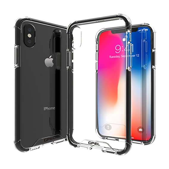 hot sales c8d0d 4635a GPEL Designed for iPhone X Case [EverPure Max] Protective Clear 3-Layer  Drop Protection Case