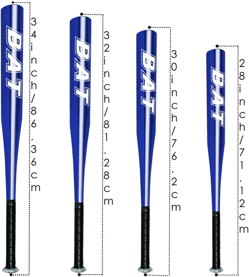 """Wear-Resistant Fitness Youth Full Size Lightweight Sport Adult Anti-slip Rubber Grip BodyRip Steel Alloy Softball Baseball Bat with Rawlings 9/"""" Ball Training Silver 30 Inches"""