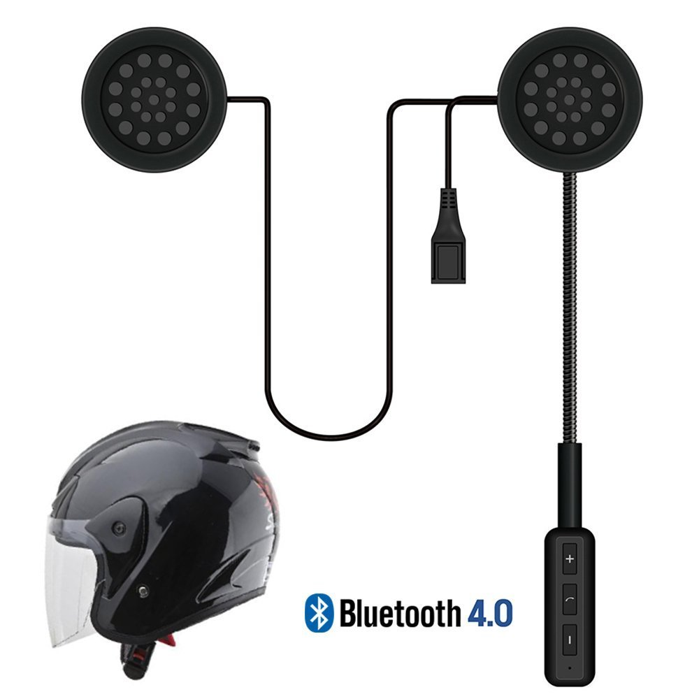 Businda MH01 Motorcycle Helmet Wireless Bluetooth 4.0 Headset,Sport Headset,Helmet Headphones,Music Call Control,Speakers Handsfree