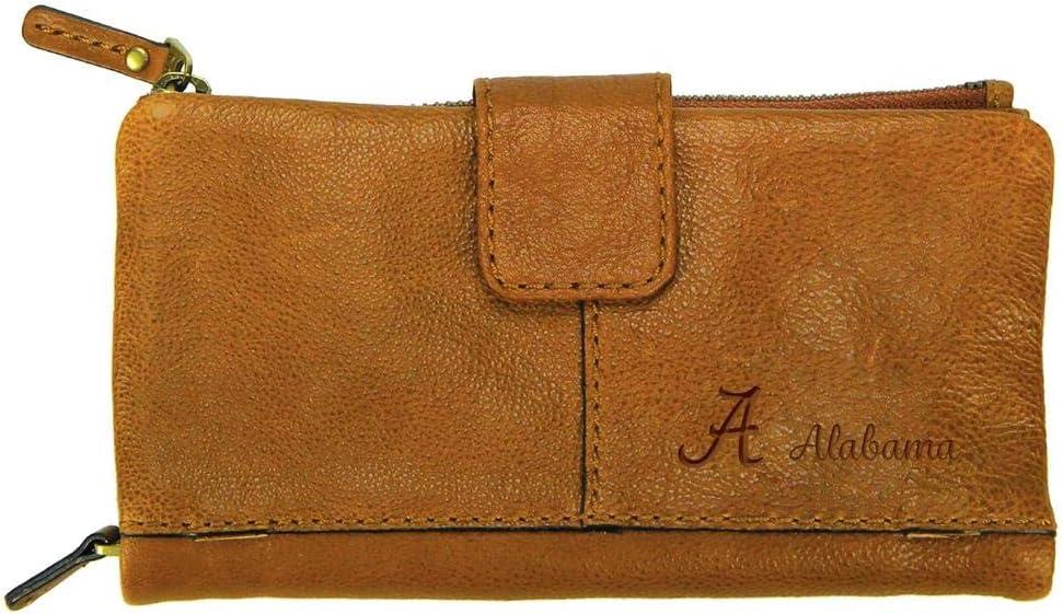 Carolina Sewn Womens Alabama Crimson Tide Bama Clutch Wallet Leather Snap Clutch