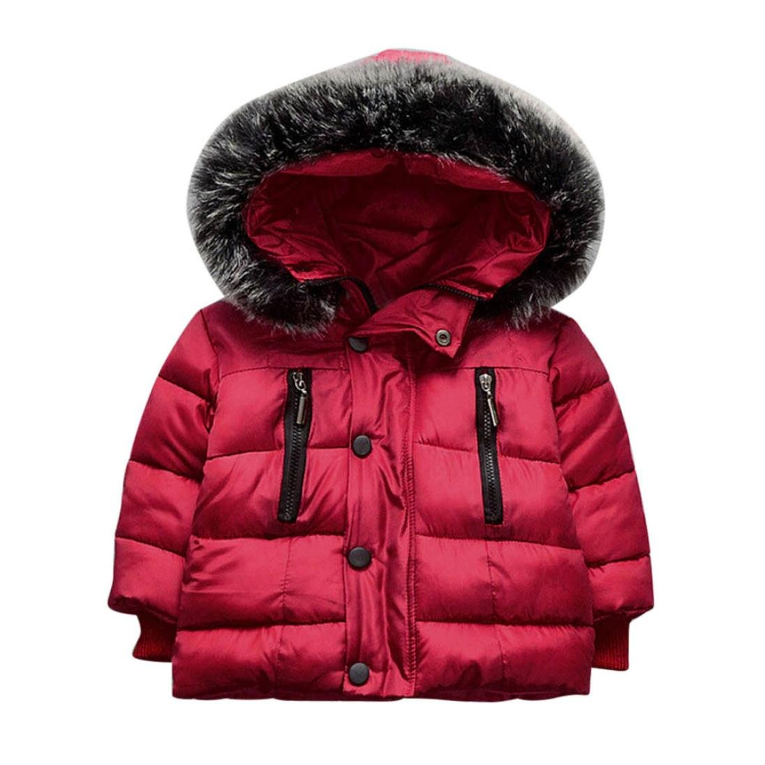 Gotd Baby Girl Boy Winter Thick Cotton Hooded Coat Jacket Thick Warm Clothes