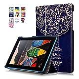 Carcasa para el Tab 3-710F,Ultra Slim PU Cuero Carcasa Piel Flip Case Cover para Lenovo Tab3 7 Essential Tab 3-710F Tablet de 7'' Pulgadas Funda de Cuero con Soporte Function
