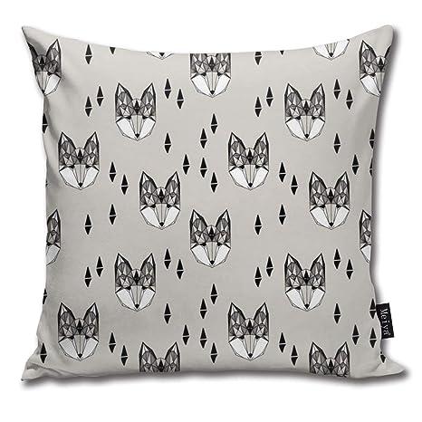 beautiful& Geometric Fox Head Grey Fox Fox Head Kids Design ...