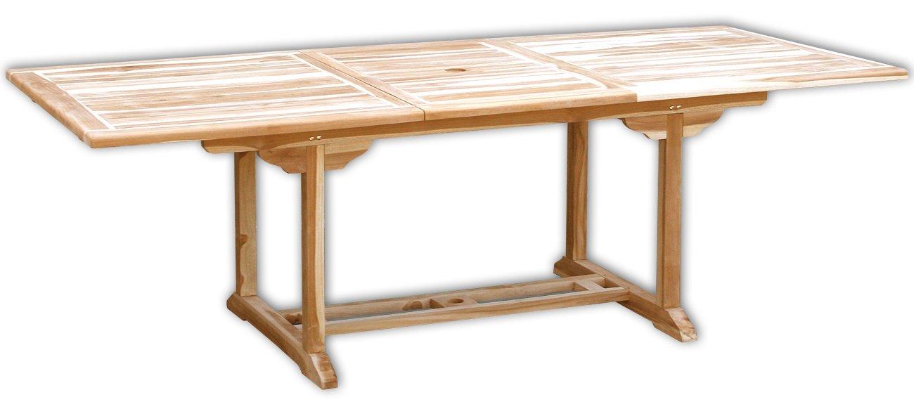 Amazon.de: KMH®, Ausziehbarer Teak Gartentisch (Maße: 170 - 230 x ...