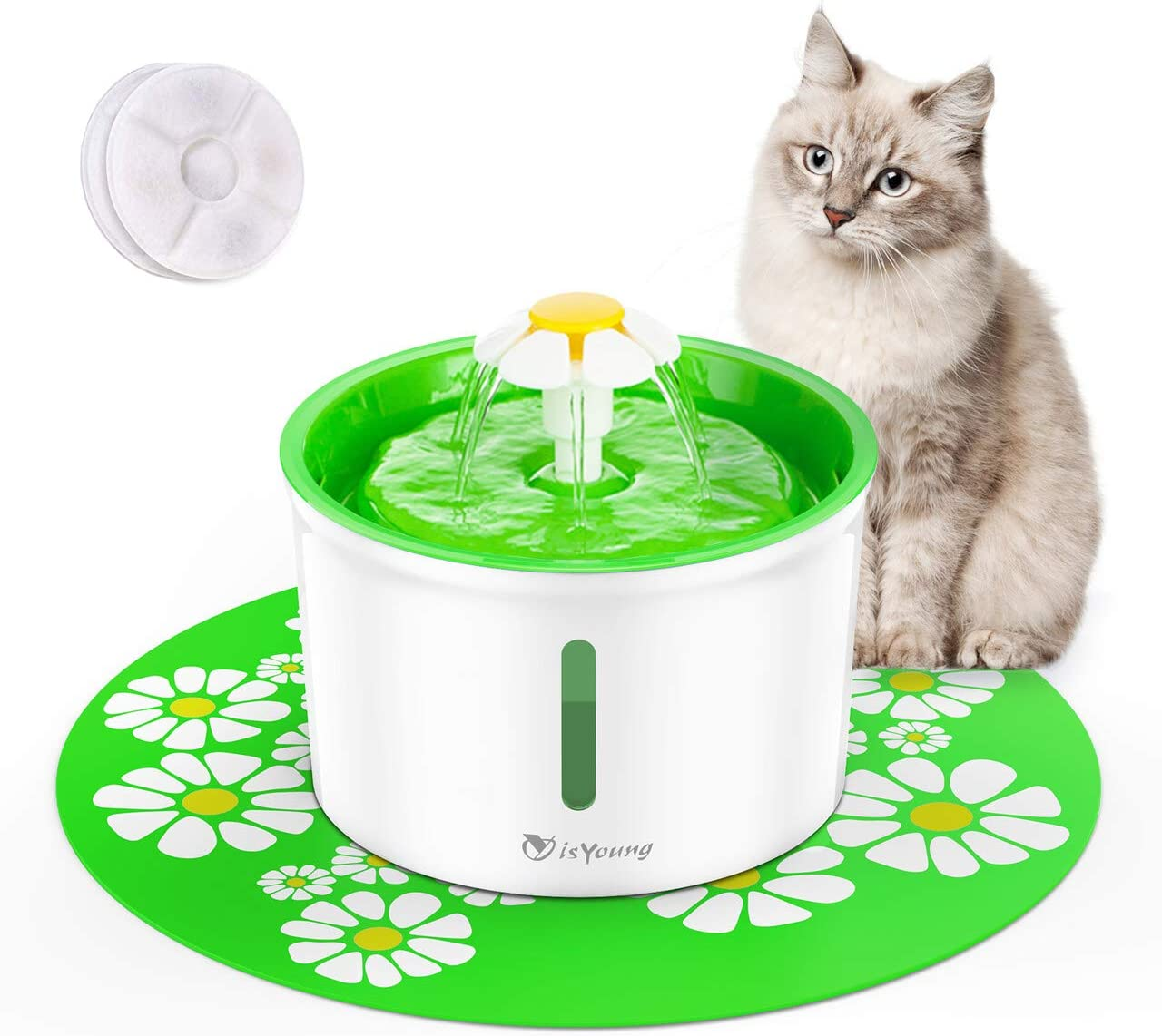 Amazon.com : isYoung Cat Fountain 1.6L Automatic Pet Water ...