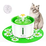 isYoung Cat Fountain 1.6L Automatic Pet Water Fountain Pet Water Dispenser, Dog/Cat Health Caring Fountain and Hygienic Dog F