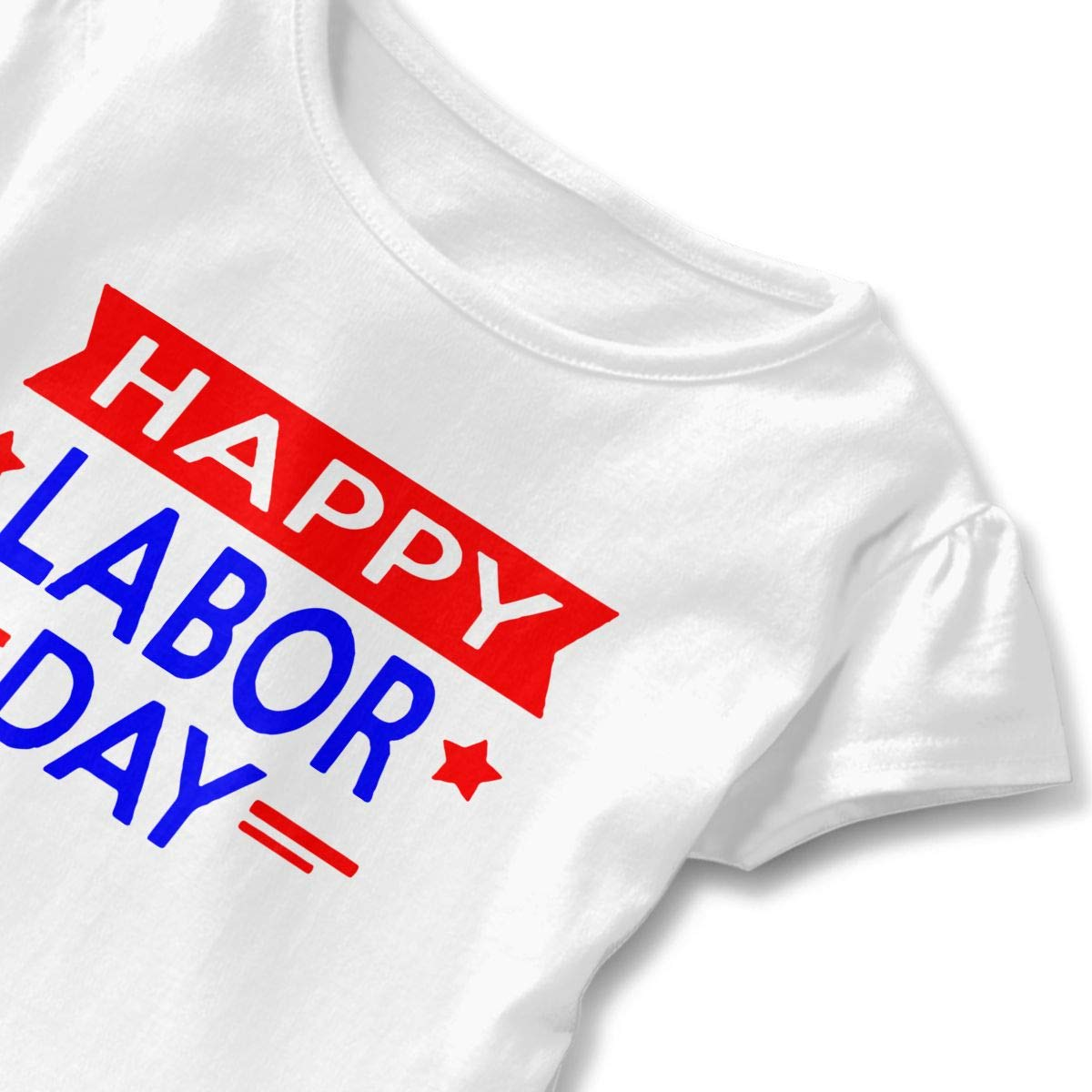 SC/_VD08 Happy Labor Day Baby Girls Round Collar Shirt Pullovers
