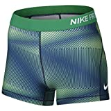 Nike Women's Pro Compression Shorts Green Blue 830674 324 (MD x 3)